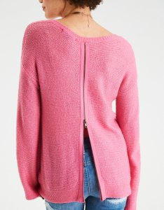 zip back sweater